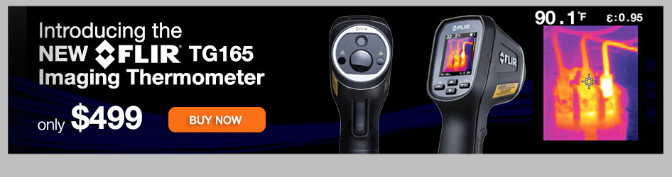 The FLIR TG165 Handheld Infrared Thermal Imager is now available at BgBsupply.com!