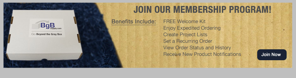 Join BgB Supply's Membership Program for a free Welcome Kit!
